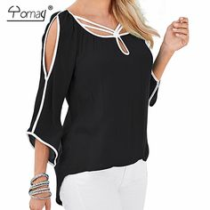 Yomay women off the shoulder batwing sleeve loose T shirt Spring Summer Black Blue Cloak Basic Brief Irregular Top
