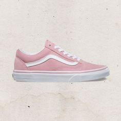 Sneakers all day. Pink Sk8-Hi are perfect for dressing down an outfit.