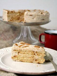 Tarta de galletas María y queso sin horno | Cuuking! Recetas de cocina Cold Desserts, No Bake Desserts, Easy Desserts, Dessert Recipes, Dessert Sans Four, Cheesecake, Crazy Cakes, Drip Cakes, Muffins