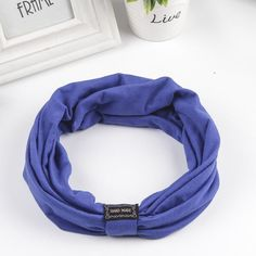 New Cotton Elastic Sports Headband Wide Turban Headbands for Women HA072