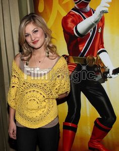 Brittany Pirtle Power Rangers Megaforce, Power Rangers Samurai, Power Ranges, Shiba, Brittany, Yellow, Red, Outfits, Women