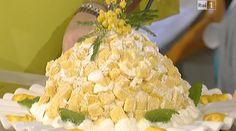 La ricetta del dolce di oggi 8 marzo 2016 di Anna Moroni da La prova del cuoco, la ricetta dello zuccotto di mimosa per la festa delle donne