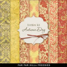 New Freebies Vintage Style Paper Kit - Autumn Day - Far Far Hill