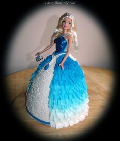 Ruffled Princess Birthday Cake skirt idea