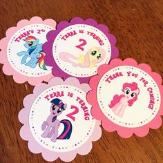 10 Piece My Little Pony Favor Tag w/ Ribbon