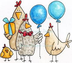 From the Flock - Birthday Images - Birthday - Rubber Stamps - Shop