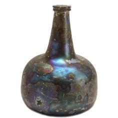 Dutch wine bottle (onion bottle or kattekop)