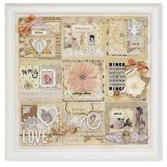 shabby chic, vintage style, paper collage ~ Melissa Frances