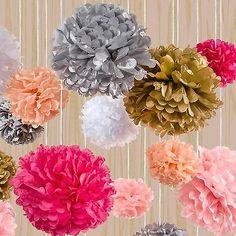 Tissue Pom Poms Paper Flower Home Wedding Birthday Tea Party Table Decoration
