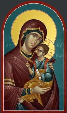 Theotokos Panagia MADE TO ORDER Handpainted Eastern Orthodox Byzantine icon 22k | eBay Byzantine Icons, Byzantine Art, Religious Icons, Religious Art, Religion Catolica, Blessed Mother Mary, Orthodox Christianity, Madonna And Child, Catholic Art
