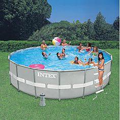 Summer waves elite 18 39 x 48 round premium metal frame - Intex easy set pool 18 x 52 ...