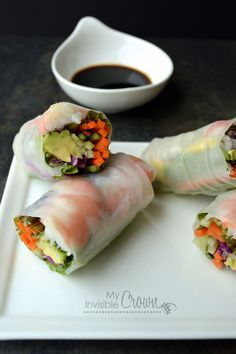 Summer Rolls with Shrimp and Avocado..boyfriend is obsessed