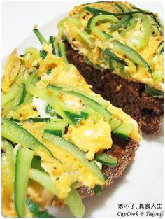 椒鹽小黃瓜蛋烤土司 / Cucumber Egg Toast