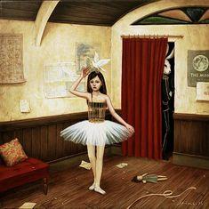 MIDNIGHT DANCE  38.5×38.5cm/Acrylic,Oil on wood  Shiori Matsumoto 2001