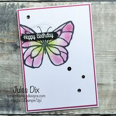 Scrapping Mojo Designs: Happy Birthday Card with Beautiful Day from Stampin' Up!