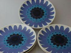Vintage Arabia Finland Hand Painted Retro Mod Mid Century Porcelain Plate