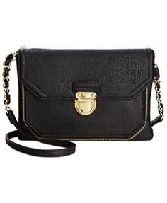 9f9b68a5c07 Olivia + Joy Elaine Crossbody Messenger Bag Handbag, Black: Handbags:  Amazon.com