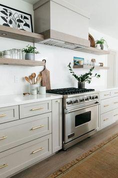 Photo Tour: Alexandria Part 1 - greige design Home Decor Kitchen, Kitchen Interior, New Kitchen, Kitchen Dining, Cheap Kitchen, Kitchen Ideas, Modern Farmhouse Kitchens, Home Kitchens, Small Kitchens
