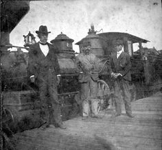 Train at Micanopy junction. 1890s. Included in the photograph are an engineer, fireman, and Dr. Lucius Montgomery. General collection. State Archives of Florida, Florida Memory