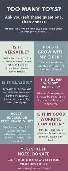 Husk lige at spørg om det er barnets yndlings af sentimentale årsager før det ditches!