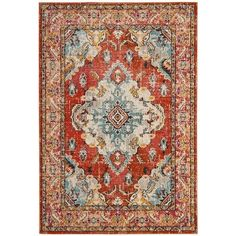 You'll love the Shakti Orange/Light Blue Area Rug at Wayfair - Great Deals on all Rugs  products with Free Shipping on most stuff, even the big stuff.