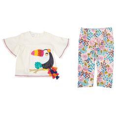 Mud Pie Petite Petals Collection Peasant Tunic Top Floral Legging Set Girls New