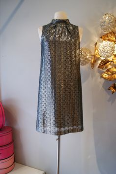 Vintage 1960's Dress // 60's Silver Mod Shift by xtabayvintage, $125.00