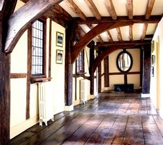 Upstairs hallway in a historic Tudor manor house  (via Award-winning country house | Period Living)
