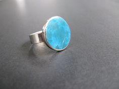 Blue+turquoise+natural+stone+ring+by+LaMerced+on+Etsy,+$24.00