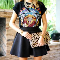 J's Everyday Fashion provides outfit ideas, budget fashion, shopping on a budget, personal style inspiration, and tips on what to wear. New Outfits, Spring Outfits, Js Everyday Fashion, Budget Fashion, Leopard Clutch, Spring Summer Fashion, Van Halen, Graphic Tees, Fashion Dresses