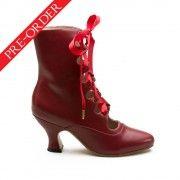 """Tango"" Edwardian Boots (Oxblood)(1890-1930)(Pre-Order) American Duchess Historical Footwear"