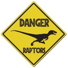 Items similar to Danger Raptors Diamond Aluminum Caution Sign - Made In The USA on Etsy 3rd Birthday Party For Boy, Park Birthday, Kids Birthday Themes, Dinosaur Party, Dinosaur Birthday, Jurassic Park Party, Festa Toy Story, Trunk Or Treat, Art Graphique