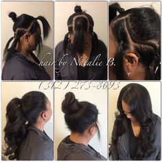 Would you like to be able to wear your sew-in hair weave in a high ponytail? No problem! PERFECT PONY SEW-IN HAIR WEAVES by Natalie B. (312) 273-8693...IG: @iamhairbynatalieb...FACEBOOK: Hair by Natalie B. .....ORDER HAIR: www.naturalgirlhair.com.