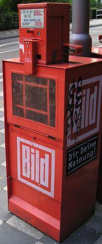 newspaper vending machine in Germany