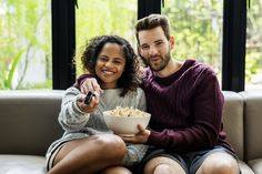 Buy Couple watching TV having popcoprn by Rawpixel on PhotoDune. Couple watching TV having popcoprn Shrimp Carbonara, King Ranch Chicken Casserole, Sheet Cake Pan, Cake Pop Sticks, Sprouts With Bacon, Couples Images, Food Dishes, Popcorn, Tv