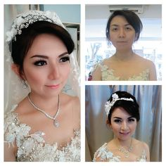 Make up bu La Rose #bridalmakeup #wedding #beforeafter #larosebridal