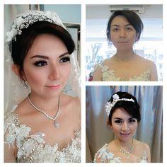 Make up bu La Rose #bridalmakeup #wedding #beforeafter #larosebridal