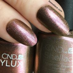 shellac and vinylux hypnotic dreams from the CND NIGHTSPELL collection by Fee Wallace Shellac Nail Colors, Cnd Nails, Nail Manicure, Cnd Colours, Manicures, Christmas Shellac Nails, Bridesmaids Nails, Bridesmaid Makeup, Short Nail Designs