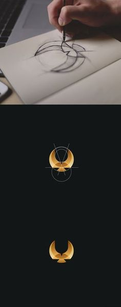 Here's a gorgeous collection of animal logos by Tom Anders Watkins, a half Finnish, half English, self-taught designer from Lincoln, UK. Graphic Design Letters, Graphic Design Typography, Lettering Design, Branding Design, Golden Ratio In Design, Golden Design, Golden Logo, Logo Golden Ratio, Logo Design Inspiration
