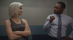 Malcolm Goodwin and Rose McIver in iZombie Izombie Tv Series, I Zombie, Rose Mciver, Girls, Books, Toddler Girls, Libros, Daughters, Maids