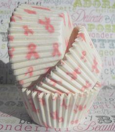 Pink Ribbon Breast Cancer Awareness Cupcake Liners
