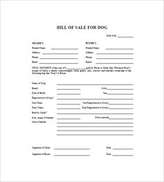 Free DogPuppy Bill Of Sale Form  Pdf  Word  Eforms  Free