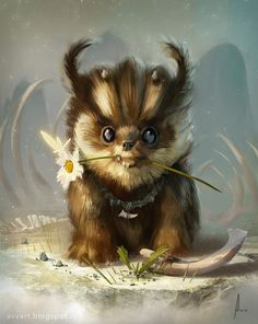 little animal , Aleksei Vinogradov on ArtStation at https://www.artstation.com/artwork/little-animal
