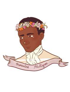I don't think Hercules Mulligan would wear a flower crown. . . but he looks so gosh darn cute