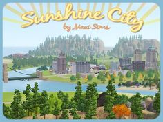 Worlds: Sunshine City The Sims, Sims 1, Sims 4 Mods, Sims 3 Custom Worlds, Sims 3 Worlds, Sims 3 Cc Clothes, Free Sims 4, Sims 3 Cc Finds, Sims 3 Games