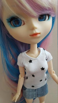 white starry T-Shirt for Pullip doll