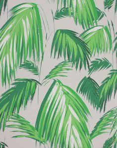 Tropicana Green & Pebble wallpaper by Matthew Williamson