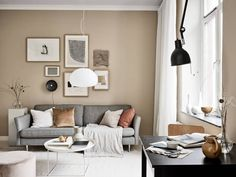 Tour a Tiny One-Room Apartment Making a Case for Small Space Living - Nordic Design Living Pequeños, Beige Living Rooms, Small Living Rooms, Interior Design Living Room, Living Room Designs, Living Room Decor, Cozy Living, Modern Living, Beige Wall Colors