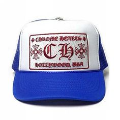 4201b28d20ac9 Blue CH Patch Trucker Mesh Chrome Hearts Cap Online Store