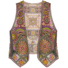 Emilio Pucci Embellished tulle vest (€3.350) found on Polyvore featuring outerwear, vests, jackets, emilio pucci, embellished vest and vest waistcoat